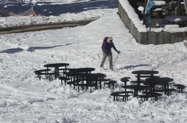 Gran nevada otoñal las Montañas Rocosas, Colorado, Nebraska, Washington y Minnesota