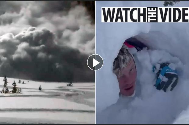 Una avalancha les cae encima, la graban en vídeo, salen ilesos y cuentan sus errores en Instagram