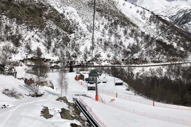 """Tavascan despidió una """"corta"""" pero intensa temporada de esquí"""