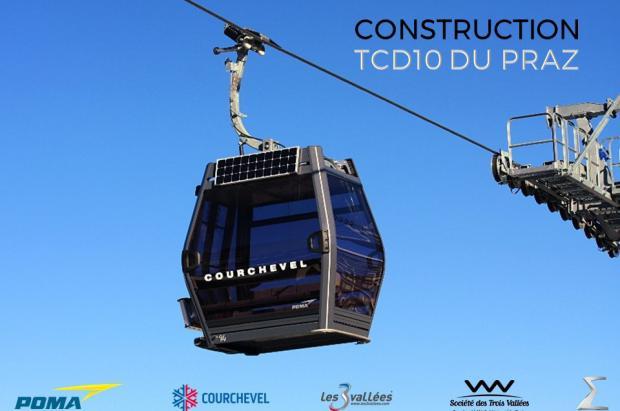 Courchevel estrenará un telecabina que servirá de entrada a la lujosa área de esquí de los Alpes