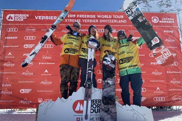 Italianos y franceses, campeones del mundo en esquí y snowboard del Freeride World Tour 2019