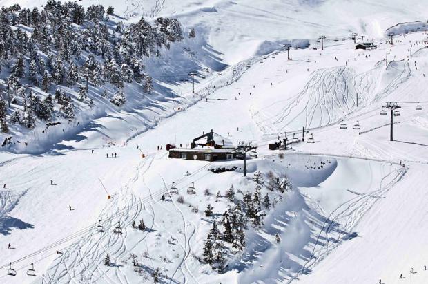 Imagen de la primera nevada de Vallnord