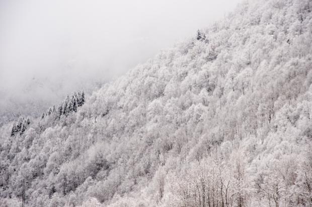 Gloria obliga a cerrar estaciones, usar cadenas y baja la cota de nieve a 200 metros en su primer día