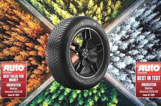 El neumático 'all-season' Vredestein Quatrac continúa cosechando éxitos