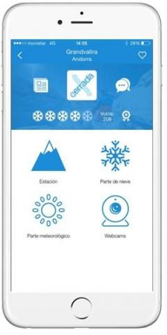 Captura App Snowcheck estación