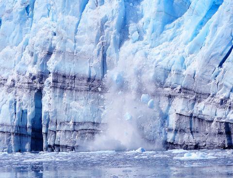 capas en un glaciar