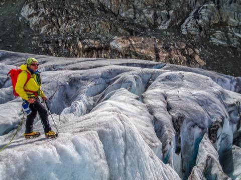 Aletschgletscher. La superficie helada más grande de Los Alpes