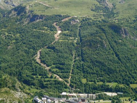 Vista general del recorrido de la pista Estrimal
