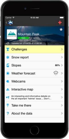 Aplicación Skitude y sus retos en un i-phone