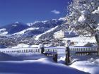 Imagen maravillosa de la estación de esquí de Disentis en los Grisones