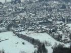 Vista de Kitzbühel desde la mítica pista de Hahnenkamm