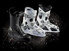 botas de esquí dahu, botín y carcasa ofrecidas por separado