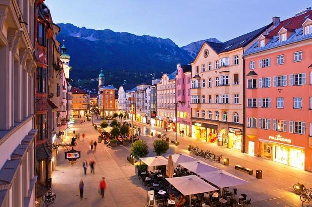 La céntrica Maria-Theresien-Strasse en Innsbruck
