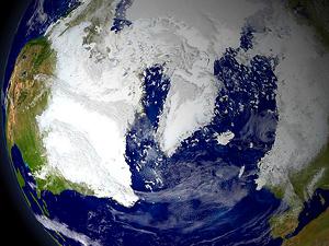 bola del mundo con nieve