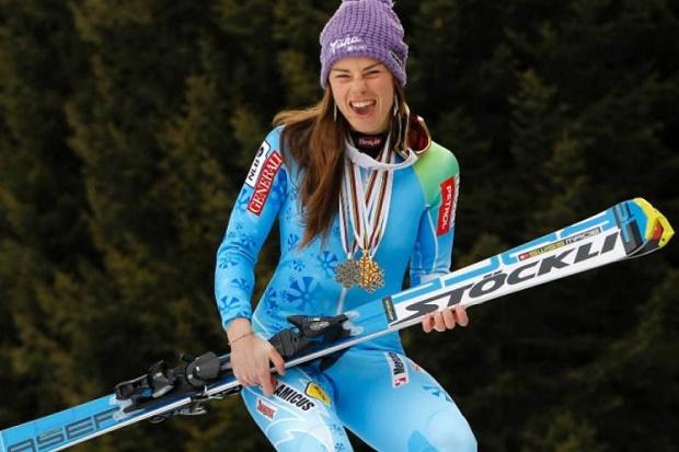 Tina Maze es una de las esquiadoras más sexys del planeta nieve