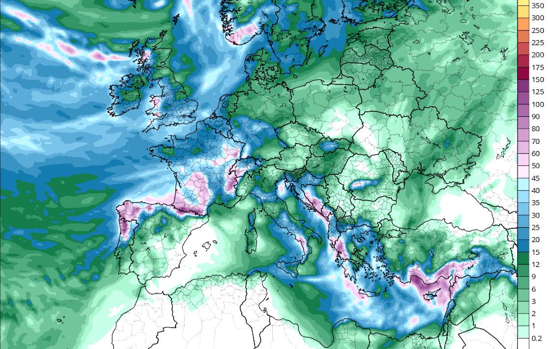 Mapa De Lluvia Gfs.Prevision Meteo Nevadones Hasta El Viernes En Cotas Altas Y