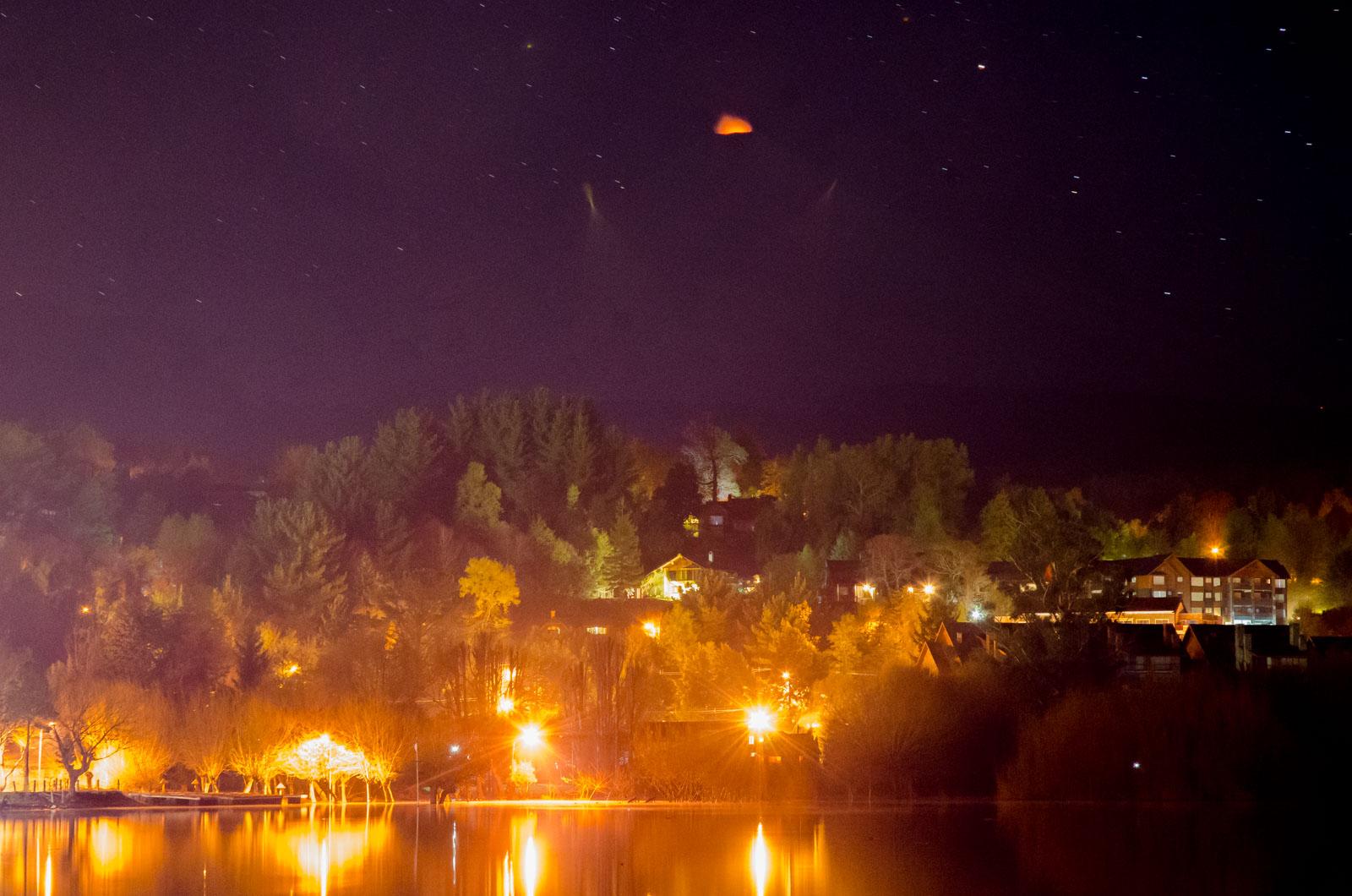 Volcan Villarrica on fire